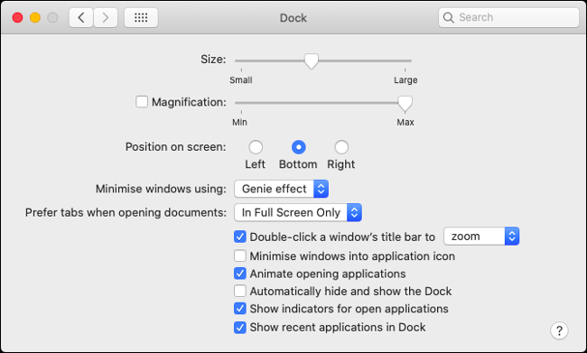 Customize Dock Behavior in macOS