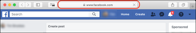"Check for ""Facebook.com"" in Your Address Bar"