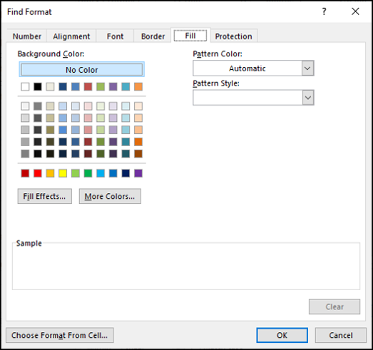 Format Cells window to specify the formatting