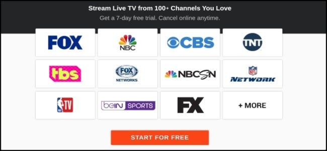 fuboTV channel options