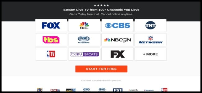 fuboTV channel page