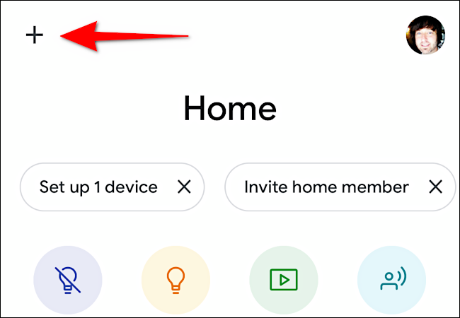 Tap the plus sign (+) to add your Chromecast device.