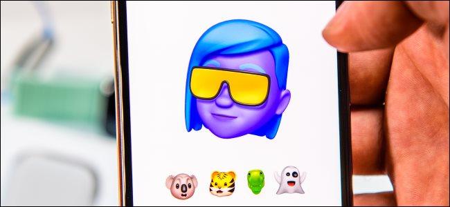 Memoji introduction on an iPhone Xs Max.