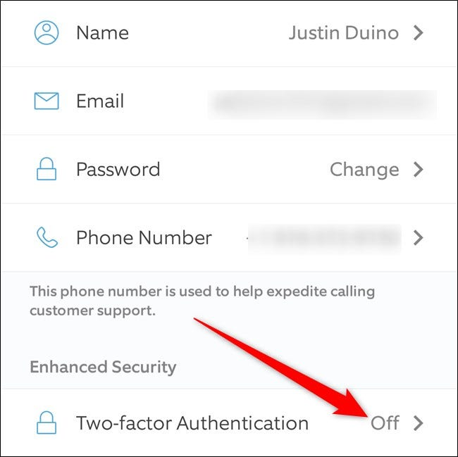 Ring App Click Two Factor Authentication