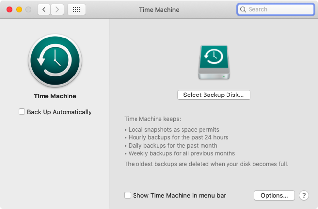 Set Up Time Machine in macOS
