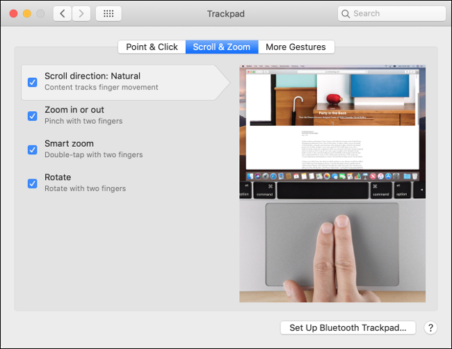 Customize Trackpad Behavior in macOS