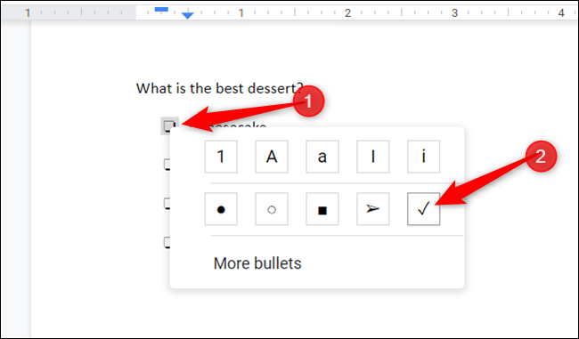 Select the box by double-clicking it, right-click to open the context menu, and then click on the checkmark.