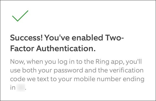 Ring App Click the Continue Button to Exit Setup Process