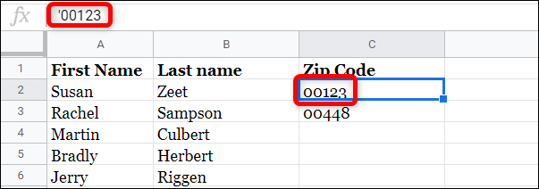 While the formula editor has the apostrophe, the cell doesn't actually show it.