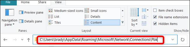 Paste the file path into the address bar.