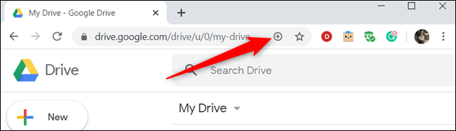 Click the plus sign (+) in the address bar.