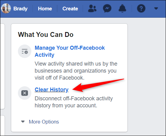 """Click """"Clear history"""" from the right side of the page."""