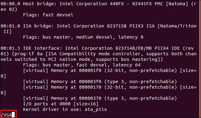 "Type ""VGA"" in all caps in the terminal window."