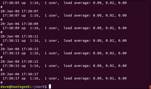 output from grep -v Mem geek-1.log in a terminal window