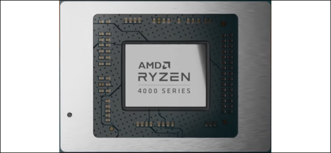 A processor with the words AMD Ryzen 4000 Series written on it.