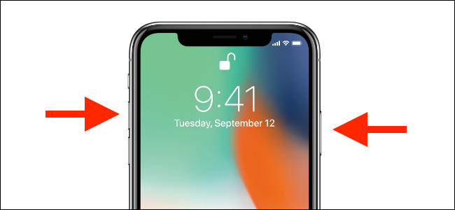 Press and hold the Volume Up and Side buttons on iPhone.