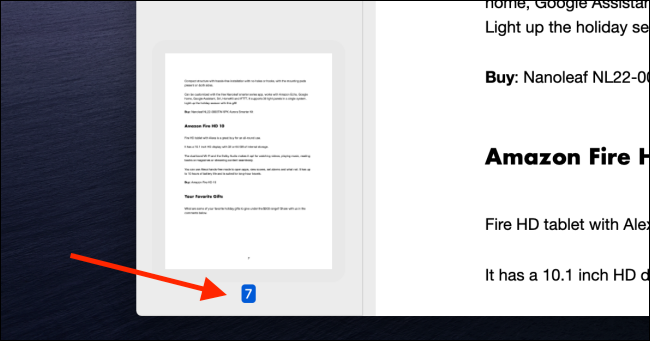 Check to see the number of the last page in the document