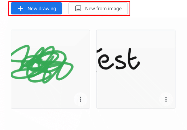 In the Google Chrome Canvas app, click New Drawing for a blank new drawing, or New from Image for a new drawing with an image background