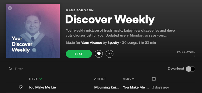 Personalized Discover Weekly