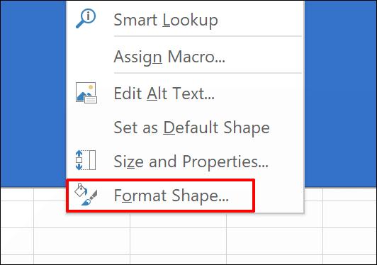 """Click """"Format Shape."""""""