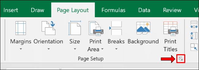 Click the Page Setup icon.
