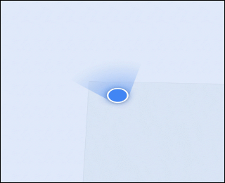 The blue, location icon in Google Maps