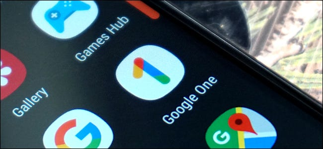 The Google One app icon on an Android phone.