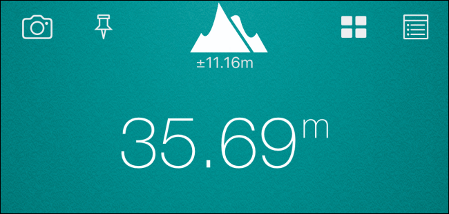 Showing the altitude in meters from location