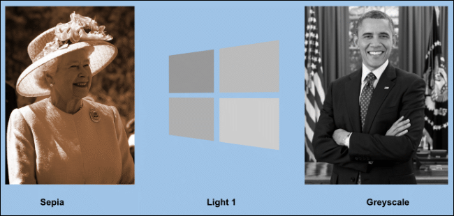 An example of recolored images in Google Slides