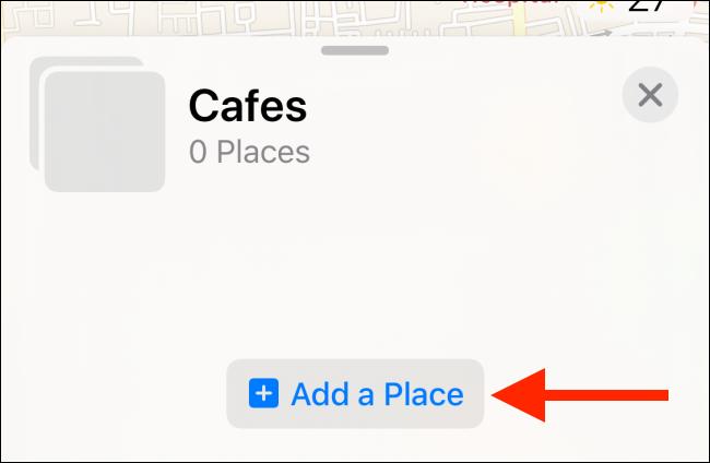 "Tap ""Add a Place."""
