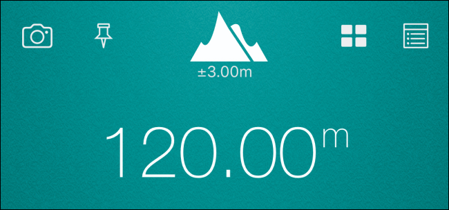 The altitude shown from data file