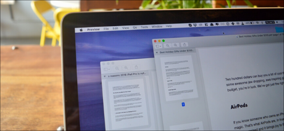 Two PDF documents open on a Mac