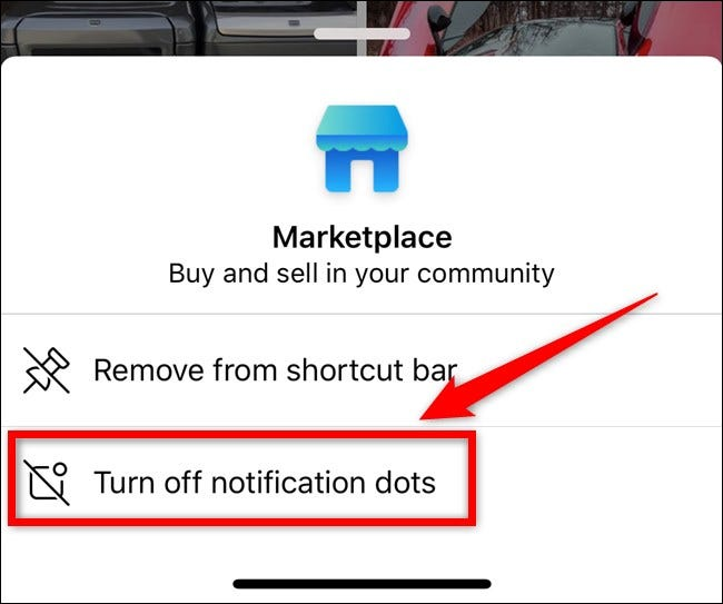 Apple iPhone Facebook App Select Turn Off Notification Dots