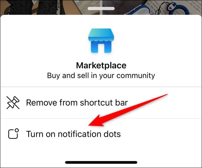 Apple iPhone Facebook App Turn On Notification Dots