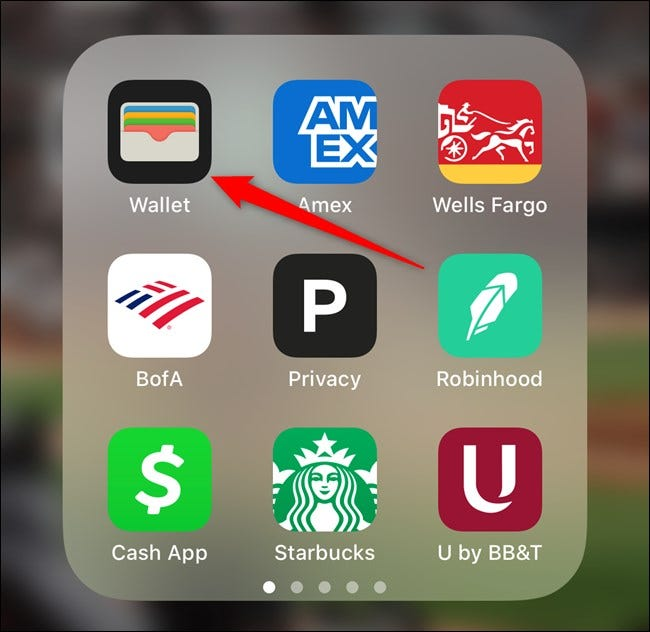 Apple iPhone Select Wallet App