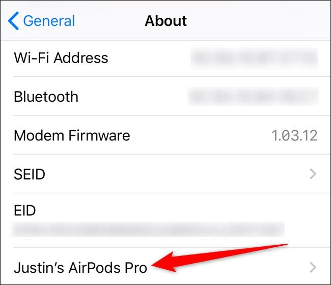 Apple iPhone Tap AirPods Option