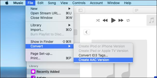 Cree una versión AAC de su clip de audio