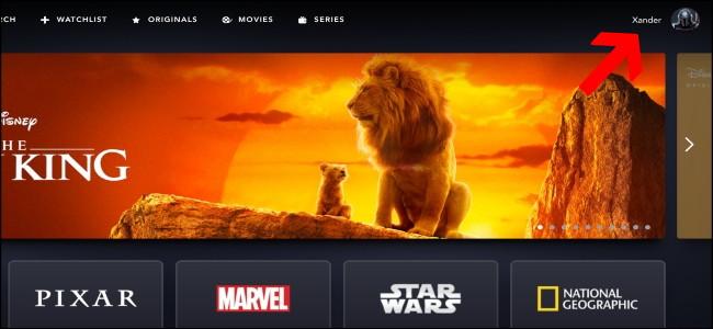 Página de inicio de Disney +