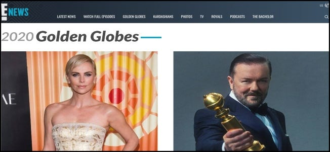 E! News Golden Globes