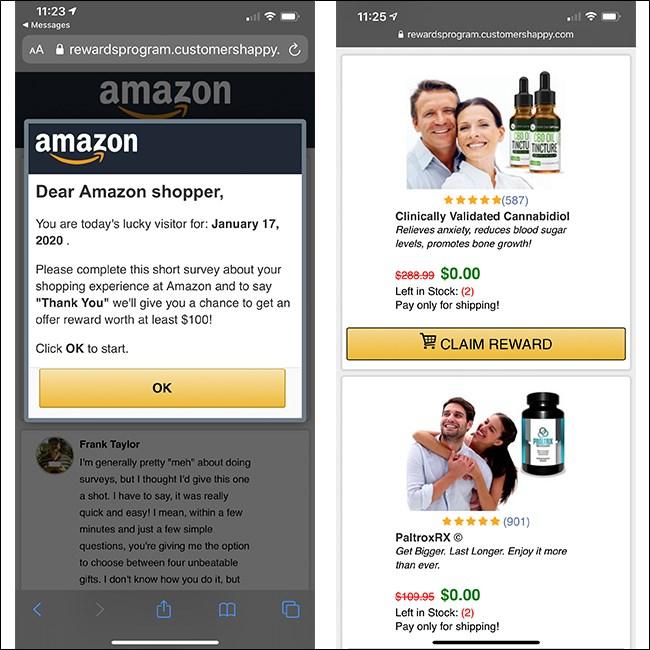 Fake Spam FedEx Link Survey and Claim Reward