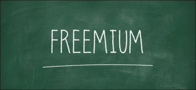 """Freemium"" written on a chalkboard."