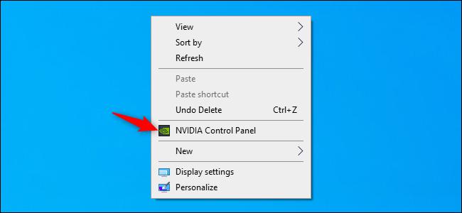 Iniciar el Panel de control de NVIDIA desde el escritorio de Windows