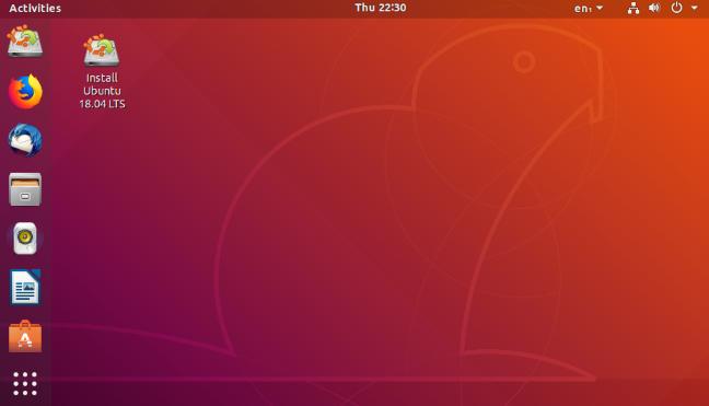 Un bureau Ubuntu Linux 18.04 LTS.
