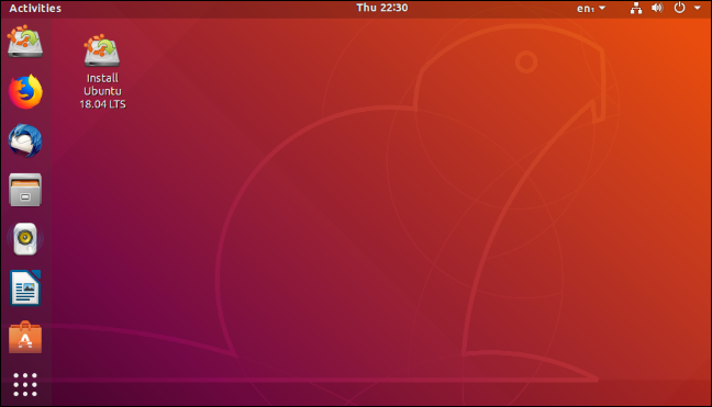 An Ubuntu Linux 18.04 LTS desktop.