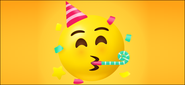 A party face emoji.