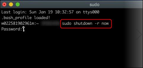 reboot command
