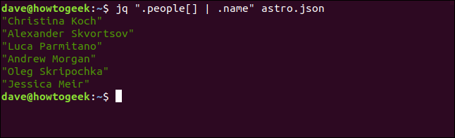 "The ""jq "".people[] 
