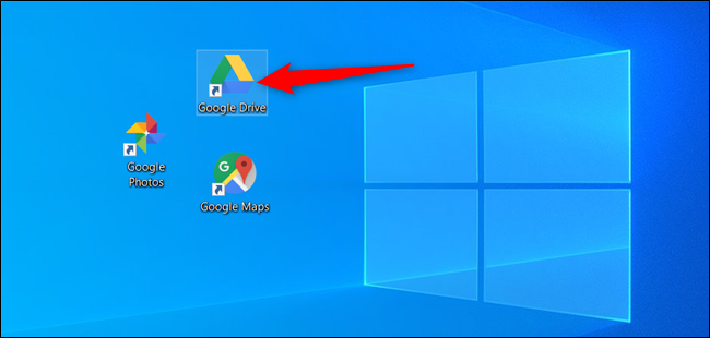 Double-click the Google Drive icon.