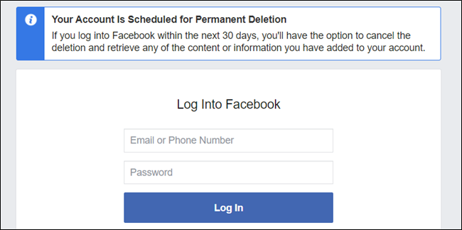 That's it. Your account has now been deleted and you're free from Facebook (in 30 days).