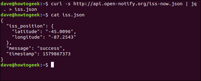 "The ""curl -s http://api.open-notify.org/iss-now.json 